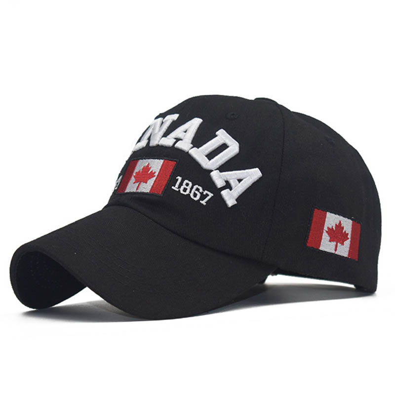 Doitbest Spring 100%cotton Baseball Cap Hat For Women Men Mom Dad Hat CANADA Letters Embroidery Outdoor Sports Caps Snapback