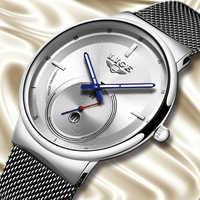 Reloj LIGE nuevo para hombre, reloj de cuarzo de lujo, de moda, Simple, resistente al agua, variedad de estilos reloj para hombre