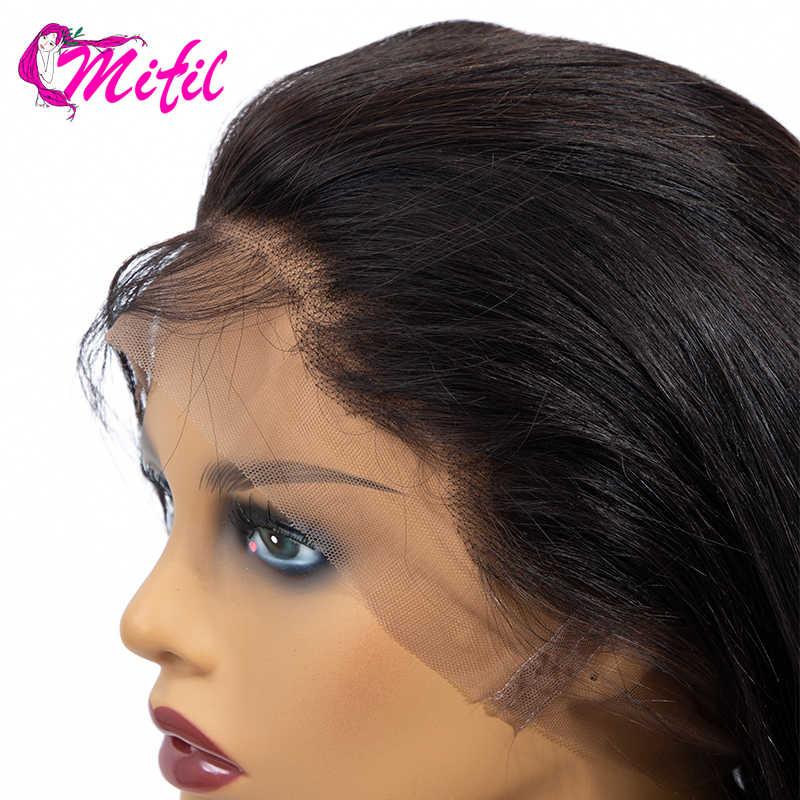 Mifil Körper Welle Frontal Vor Gezupft Ohr Zu Ohr Spitze Frontal Verschluss 100% Remy Peruanische Menschenhaar 20 INCH 360 spitze Frontal
