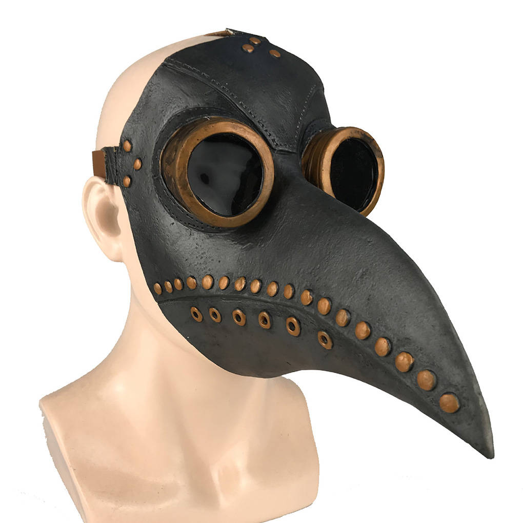 Cosplay Masks Steampunk Plague Doctor Latex Beak RB Medieval Funny Halloween Adult Event