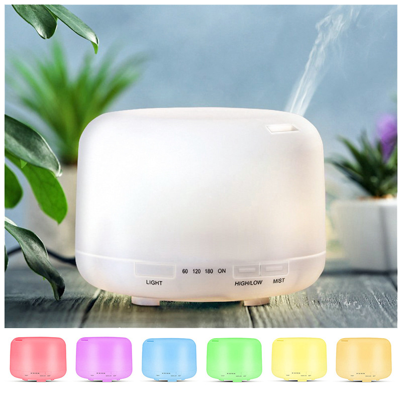 Air Humidifier Essential oil diffuser 300ML 500ML LED Lamp Aroma Diffuser Electric Ultrasonic Cool Mist Maker Fogger Humidifier