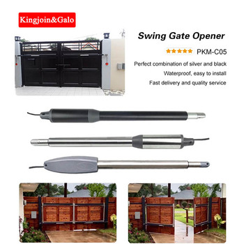 KJ&GALO DC24V arm Electric Swing Gate Opener only 1 gate motor Optional Single-arm motor Automatic actuator linear door arm galo 200kgs engine motor system automatic door ac220v ac110v swing gate driver actuator perfect suit gates opener