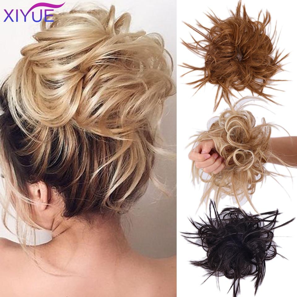 Женские завитые резинки для волос XIYUE, завитые волнистые эластичные резинки для наращивания волос, поньтай-шиньон