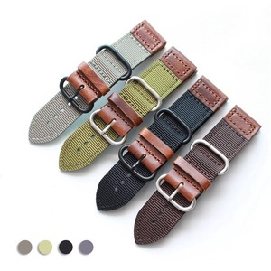 Ремешок для часов 20 22 24 мм античный военный ремешок кожаный нейлон винтажный браслет Модный нейлоновый браслет ремешок для часов для мужчин