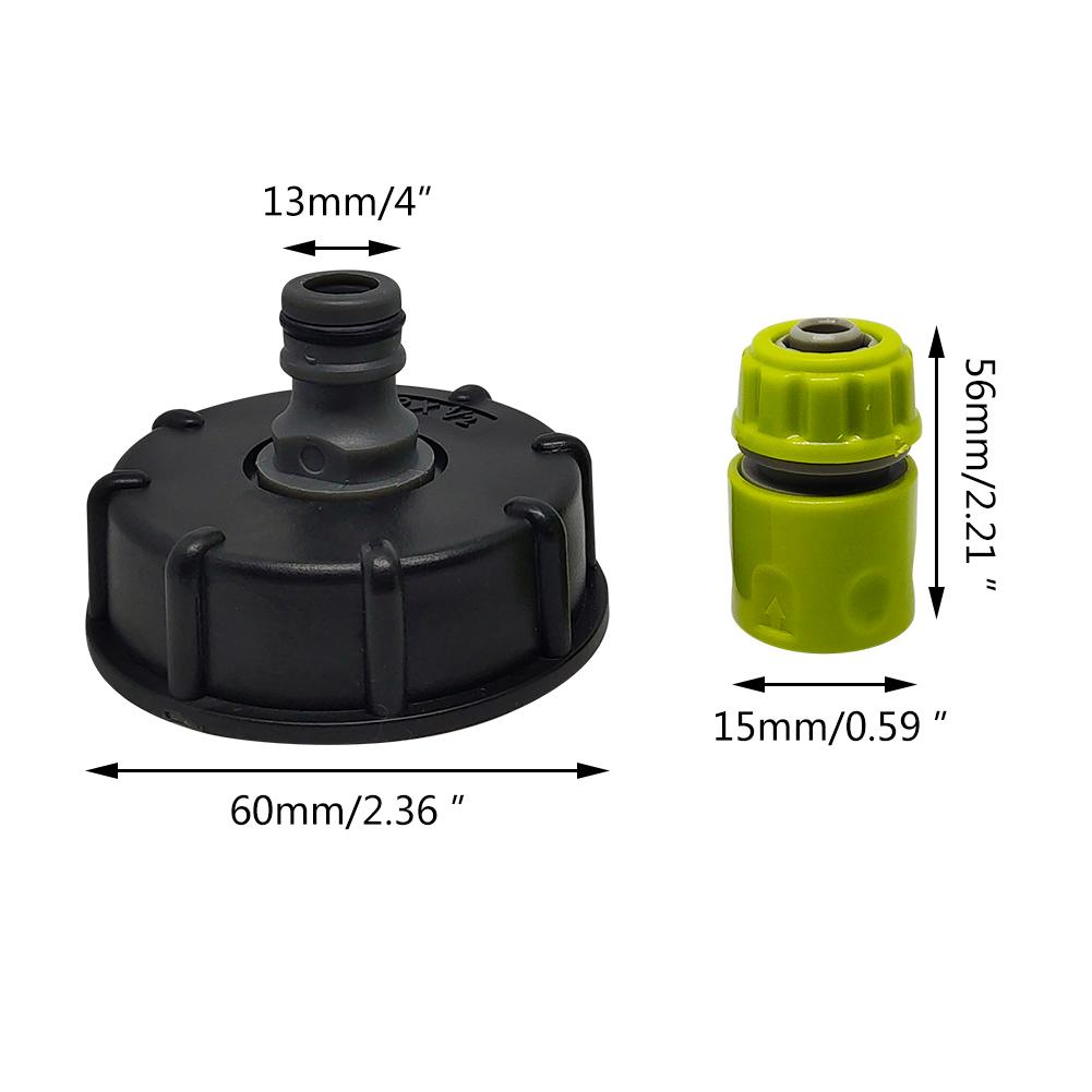 Hc7fdd2754285459f80f4f3e4a9950abdy Garden Water Ball Valve For IBC Container S60X6 Adapter Plant Water Tap Cap With Male Thread Hose Connection