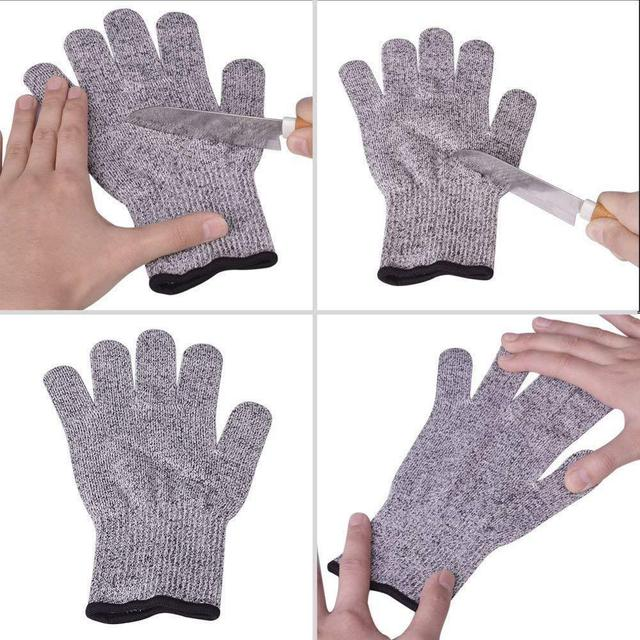 High-strength Grade Level 5 Protection Safety Anti Cut Gloves Kitchen Cut Resistant Gloves for Fish Meat Cutting Safety Gloves 5