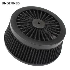 Image 3 - Motorcycle Air Cleaner Filter System Inner Element Black For Harley Sportster 883 1200 XL Dyna Softail Fat Boy Touring Road King