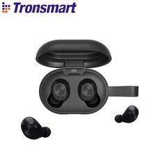 Tronsmart spunky bater bluetooth 5.0 fones de ouvido tws apoio aptx com qualcommchip voz assistente ipx5 à prova dwaterproof água cvc 8.0