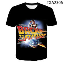 New Men's T-Shirt Back To The Future T-Shirt Marty And His Fusion Power Futuristic Car 3D Printed Children's Top Cool T-Shirt
