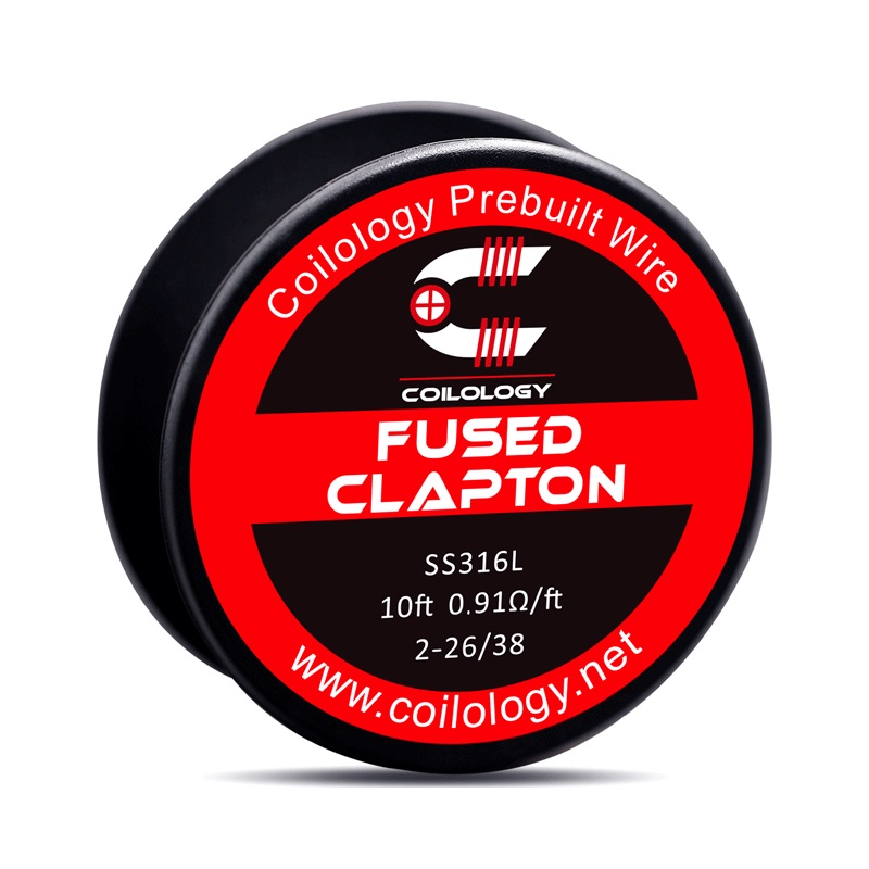 Coilology SS316L Fused Clapton Heating Wire 2*28/38 AWG Coil For Rta Tank Vape Accessory