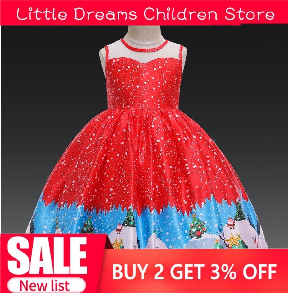 Santa-Claus-Snowflakes-Party-Girl-Dress-Ball-Gown-Baby-Dress-Bow-Children-Girl-Christmas-Dresses-8