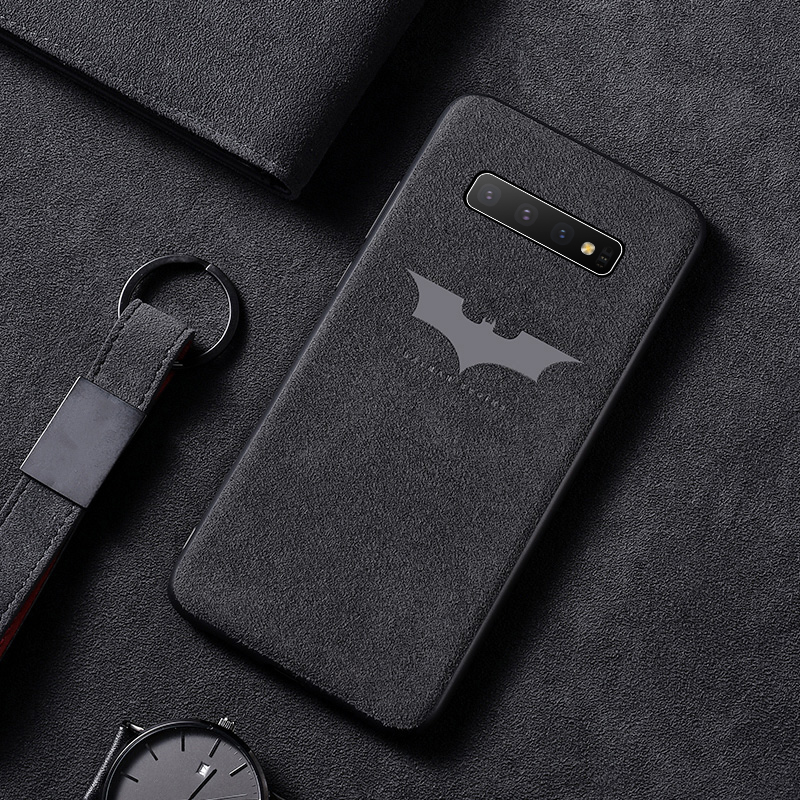 Luxury Batman Turn Fur Phone Case For Samsung <font><b>Galaxy</b></font> S20 <font><b>S10</b></font> e 5G S9 S8 Plus Note 10 9 8 Ultra-thin Car Leather Cover Coque image