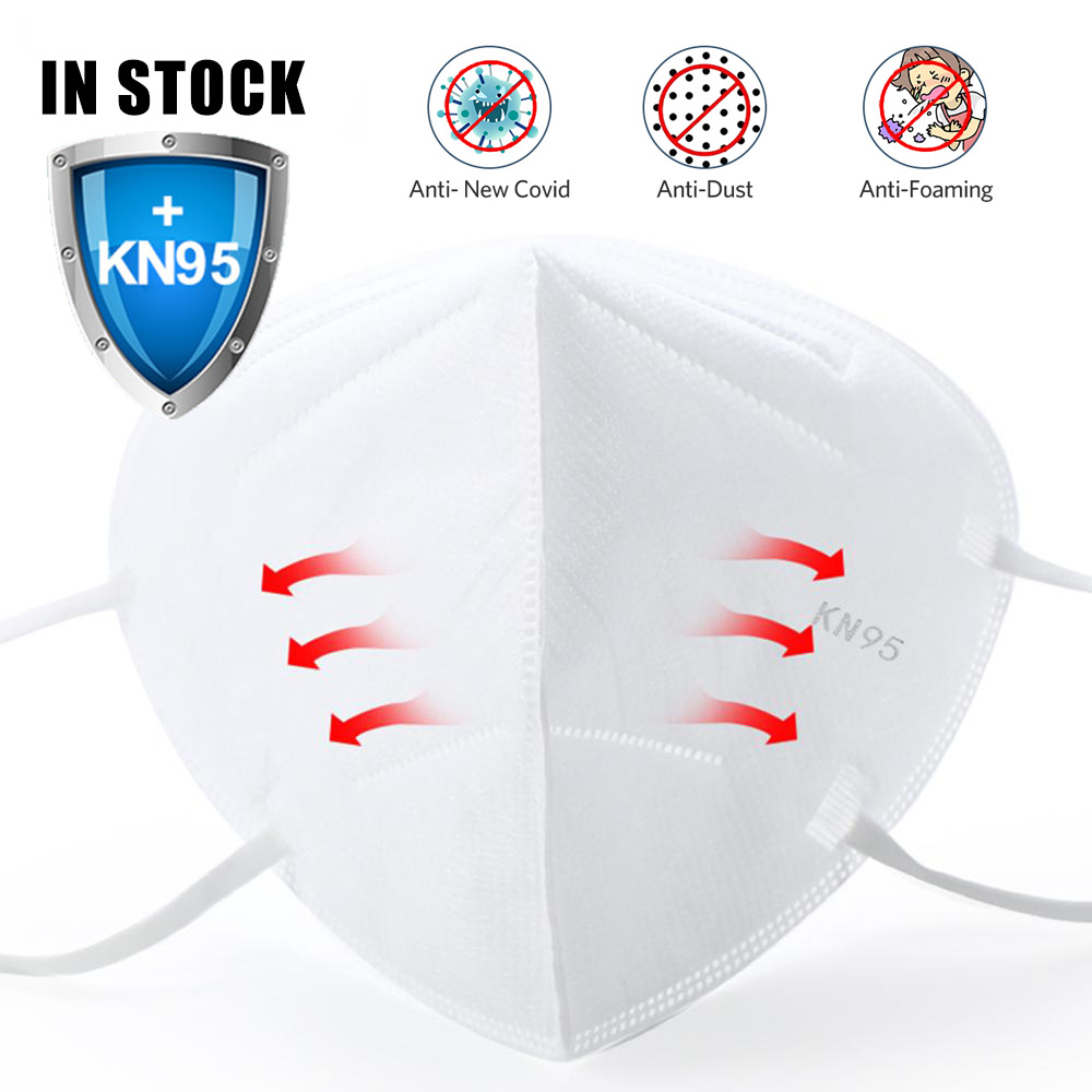 IN STOCK 100pcs KN95 N95 FaceMasks  Masque 마스크 Anti-dust Safety Protective Mouth Face Cover