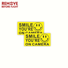 1 Pair Smile Youre On Camera Sign Car Sticker Mil Vinyl Decal