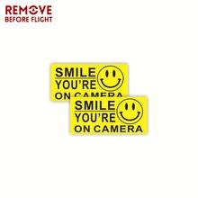 1 çift gülümseme sen kamera işareti araba Sticker Mil vinil çıkartması