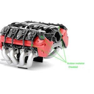 Image 4 - Simuleren LS7 V8 Elektrische Motor Motor Radiator Dual Koeler Voor 1/10 TRX4 Defender SCX10 Rc Rc Crawler Onderdelen Koelventilator