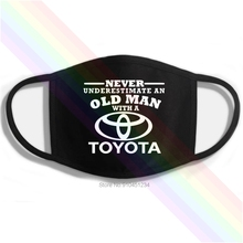 Mouth-Mask Logo Black Underestimate Printing Washable Cotton Toyota Never Classic Old-Man