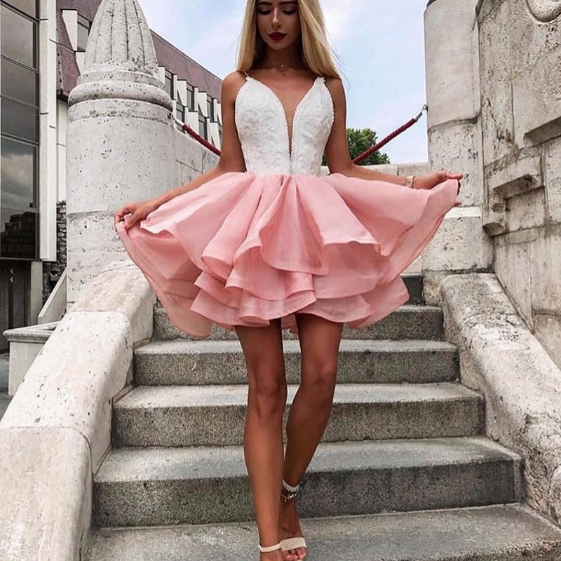 Cocktail Homecoming Dresses Short Prom Evening Formal Dress Long Party Gown 2019 Vestidos De Festa Longo Noche Robe De Soiree