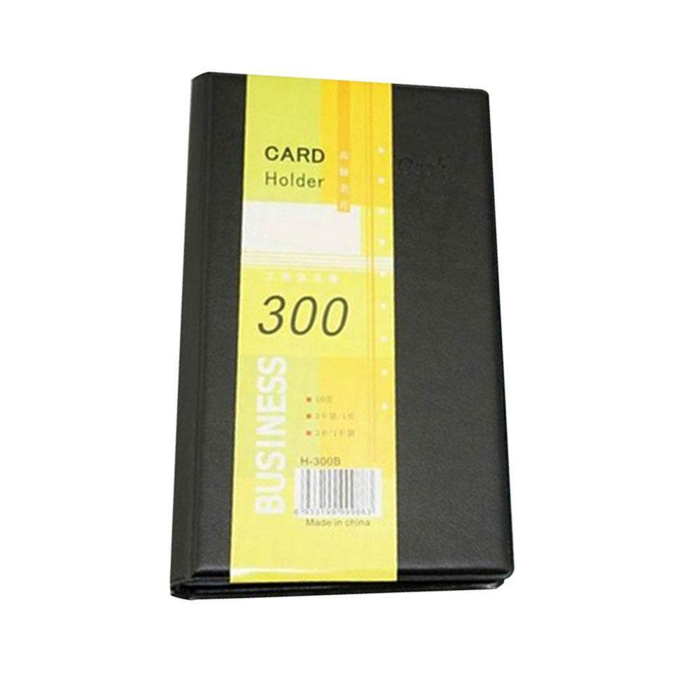 Business Card Book Large Capacity 300 Card Hard Surface Office Storage Card Book Business Book Holder Loose Card Business P4X1