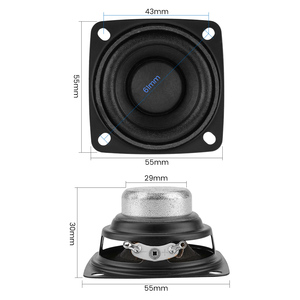 Image 2 - Aiyima 2 pc 2 Polegada 4ohm alto falante gama completa alto falante música de som driver 10 w 15 20 alto falante de rádio diy para o sistema de áudio em casa