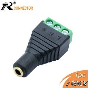 1pc 3.5mm Jack wideo AV Balun 3.5mm stereo kobieta do AV złącze śrubowe złącze Stereo 3.5mm kobieta 3 zacisk pinowy wtyczka blokowa