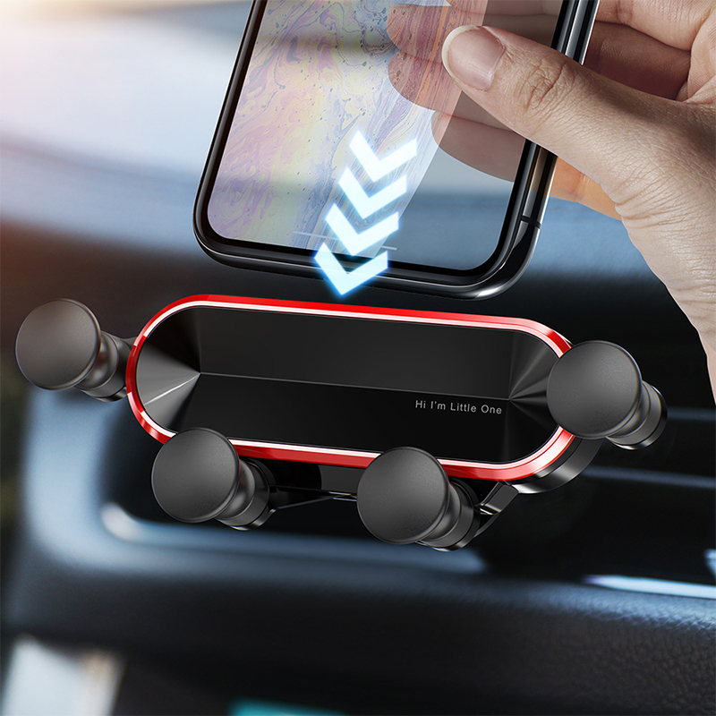 GETIHU Gravity Car Phone Holder Air Vent Clip Mount No Magnetic Mobile Support Cell Stand Smartphone in Car For iPhone X Xiaomi(China)
