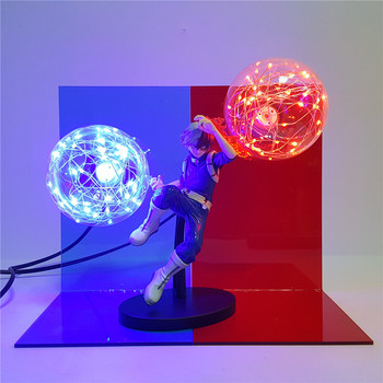 My Hero Academia Todoroki Shoto Night Light 3D LED Lamp Action Fire Bulb Figure Light Power Table Lighting Boku no Hero Academia