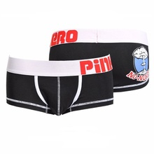 Gay Underwear Boxer-Shorts Pink Hero Cotton Brand Solid Cuecas High-Quality