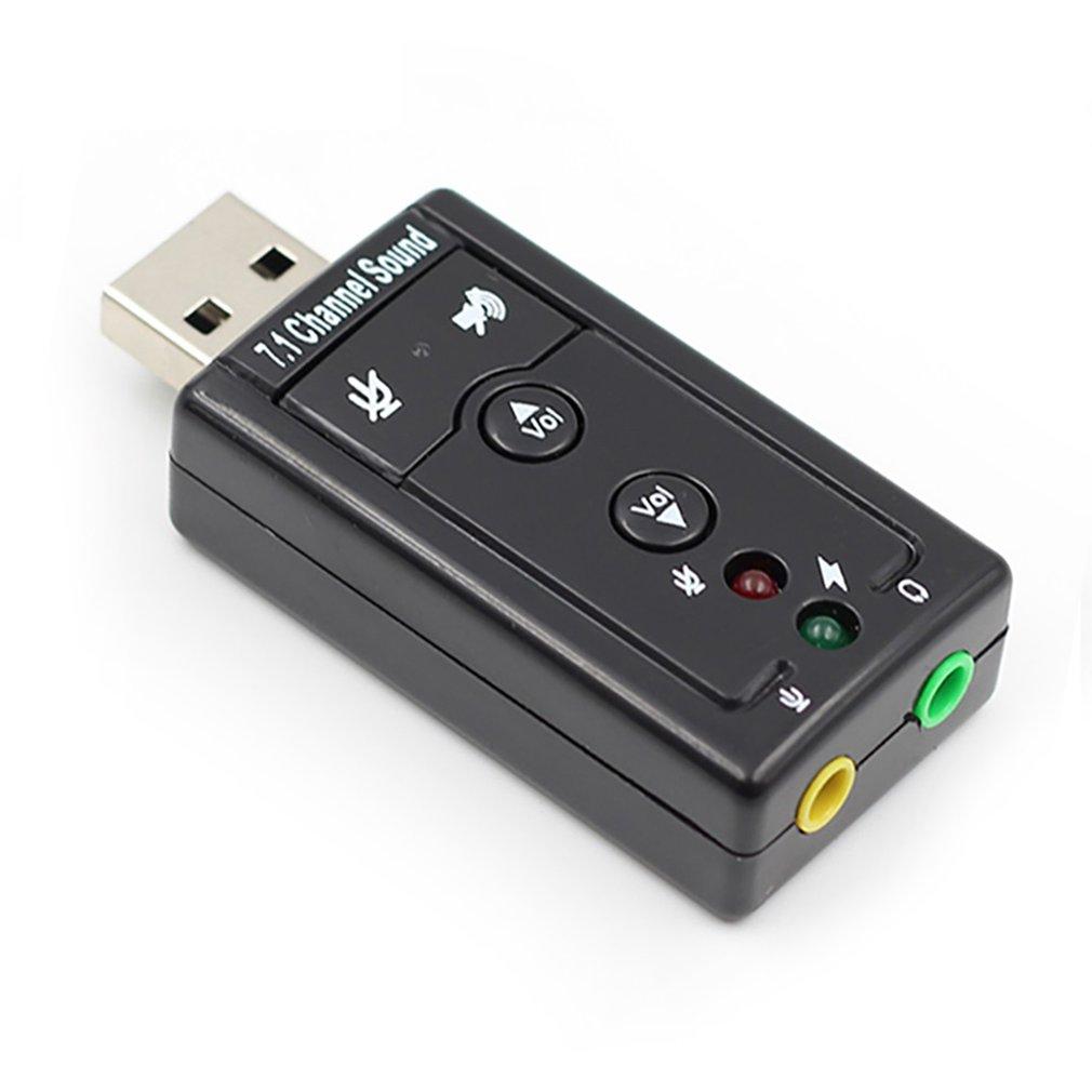 7,1 внешний usb-звуковой Интерфейс USB Jack 3,5 мм разъем для наушников цифровой микрофонный аудио, адаптер Звуковая карта для Mac