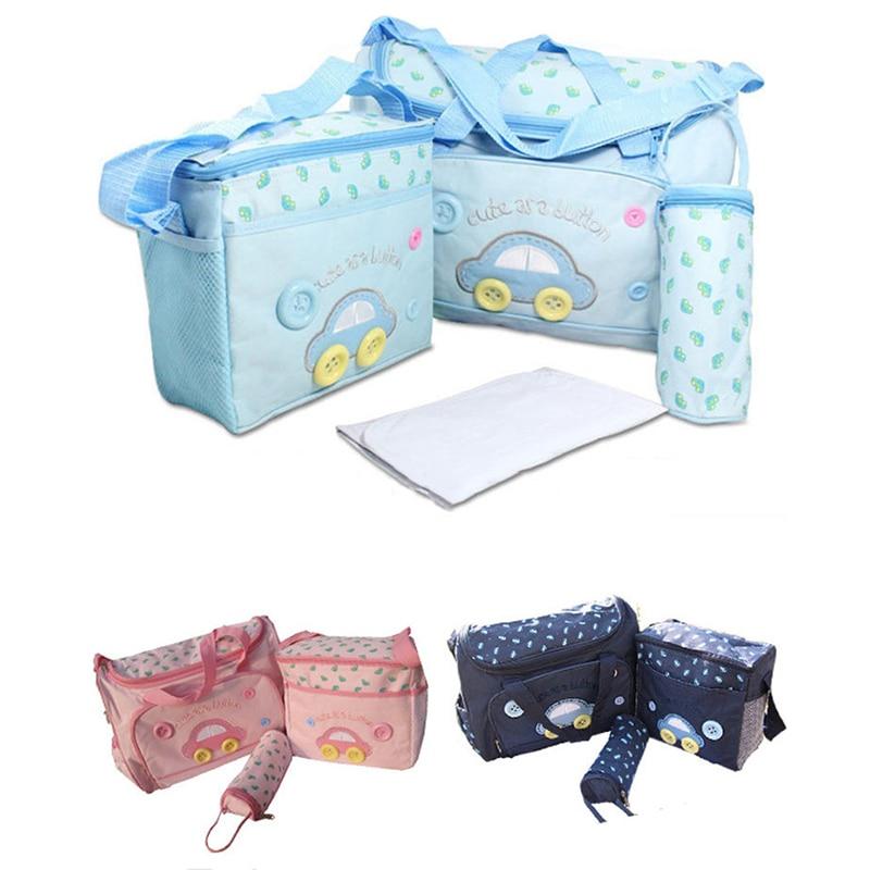 Baby Diaper Bag Sets For Mom Baby Bag Bottle Holder Large Capacity Mummy Stroller Maternity Nappy Bags Hobos Nursing Travel Bag