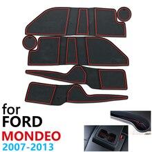 Противоскользящий резиновый коврик для чашки, для Ford Mondeo MK4 2007 ~ 2013 2008 2009 2010 2011 2012, аксессуары, коврик для телефона