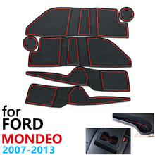 Tapis de porte en caoutchouc antidérapant pour Ford Mondeo MK4, tapis de 2007 ~ 2013, 2008, 2009, 2010, 2011, 2012