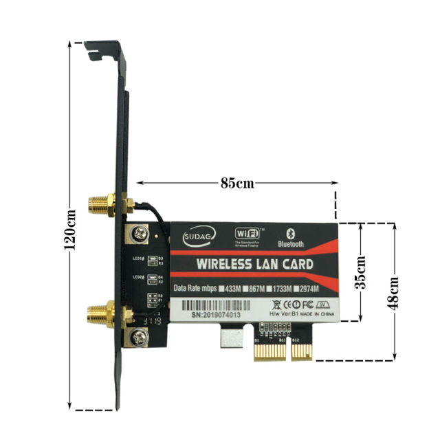 Wireless-AC AX200 802.11ac/ax 2400Mbps Desktop PCI-E 1X wifi card for Intel AX200NGW Adapter+Bluetooth 5.0 Mu-mimo