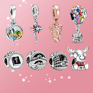 Женские Бусы из стерлингового серебра 925 пробы с подвеской, ожерелье с подвеской, летний мир аттракционов, оригинальный браслет Pandora, ювелир...