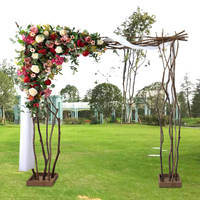 Artificial Silk Rose Row DIY Wedding Road Guide Arch Decoration Artificial Flower home decor Studio Props green leaf Flower