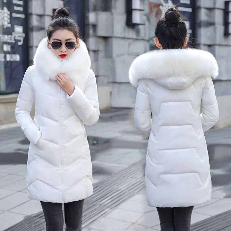 Зимняя женская длинная куртка 2020 зимнее пальто для женщин с искусственным меховым воротником теплая Женская парка верхняя одежда пуховик зимняя куртка Женское пальто|Парки|   | АлиЭкспресс
