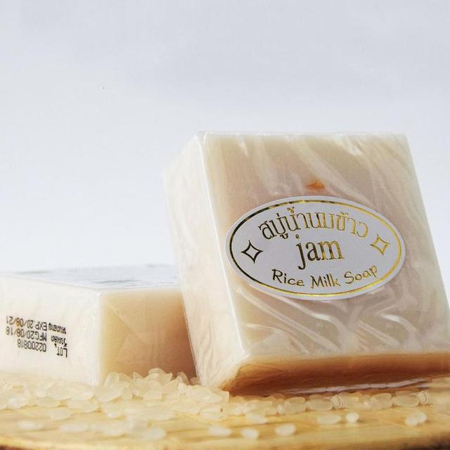 Hand Soap Thailand Handmade Collagen Vitamin Skin Whitening Bathing Tool Rice Milk Soap Bleaching Agents Acne Soap 2