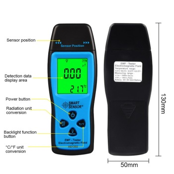 Junejour emf meter handheld electromagnetic field radiation detector digital lcd display