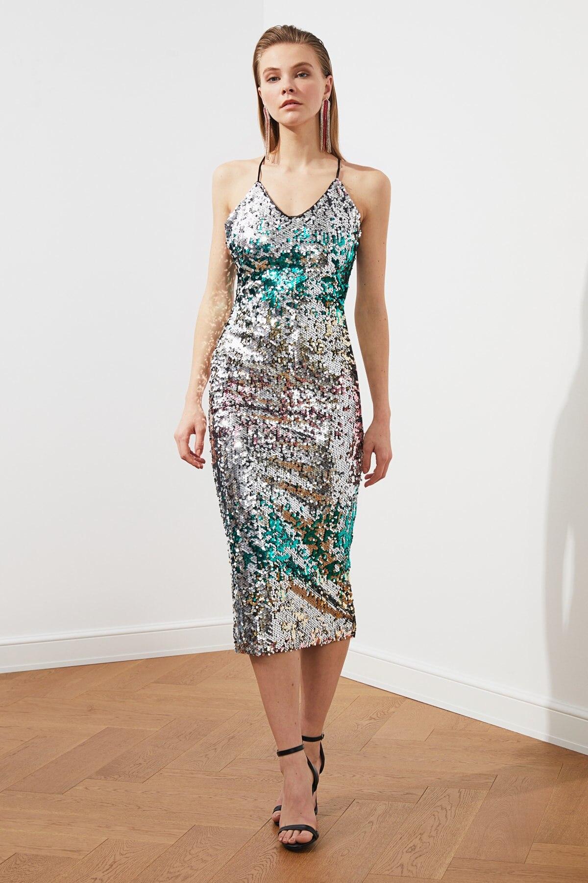 Trendyol Sequined Dress TPRSS20EL1140