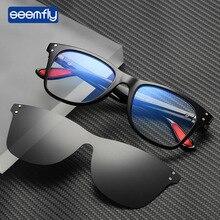 Seemfly Men Sunglasses Anti Blue Rays Magnet Sun Glasses Classics Vintage Polarized Brand Design Male Driving