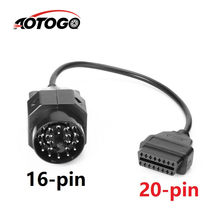 1Pc OBD OBD II Adattatore per BMW 20 pin a OBD2 16 PIN Femmina Connettore e36 e39 X5 Z3 per BMW 20pin(China)