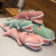 70/90/110/130cm Wholesale soft big mouth crocodile dolls Plush filled large pillows Stretch velvet fabric feels smooth