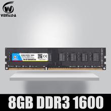 VEINEDA DDR3 8GB 1333 PC3-10600 240PIN Dimm Ram kompatybilny 8gb ddr3 1600 PC3-12800 dla AMD Intel DeskPC tanie tanio CN (pochodzenie) 1600 mhz Pulpit NON-ECC 11-11-11-28 one year Pojedyncze 1 5 V 1333 1600MHz