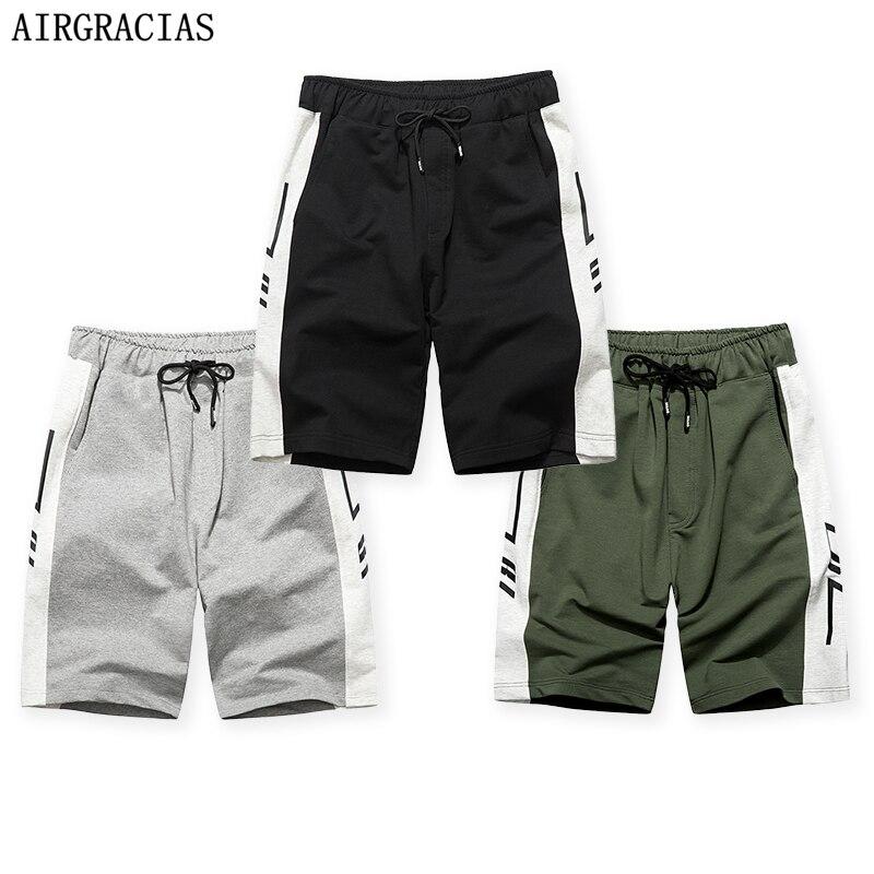AIRGRACIAS 3Pcs Summer Shorts Men 2020 Casual Short Trunks Fitness Workout Beach Shorts Man Breathable Cotton Jogger Sweatpants