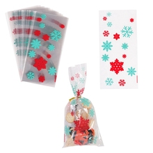50Pcs Christmas Bags Candy Bags Holiday