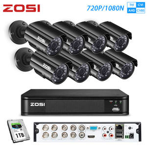 ZOSI Surveillance-Dvr-Kit Nightvision-System Video Street-Camcorder Outdoor 8ch HDD 720P