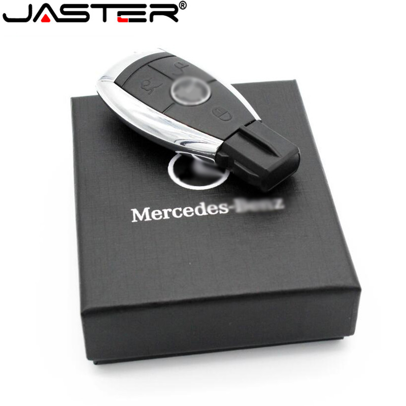 JASTER Car Logo Pen Drive 128gb USB Flash Drive 64gb Mercedes  Car Key USB Stick 32GB 16GB 8GB Pendrive Memory Stick USB