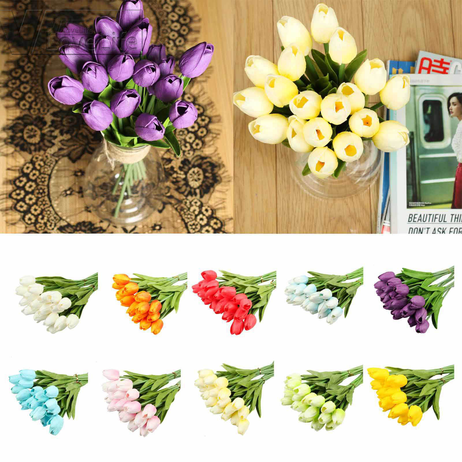 10//20 Head Latex Real Touch Calla Lily Flower Bouquets Bridal Wedding Home Decor