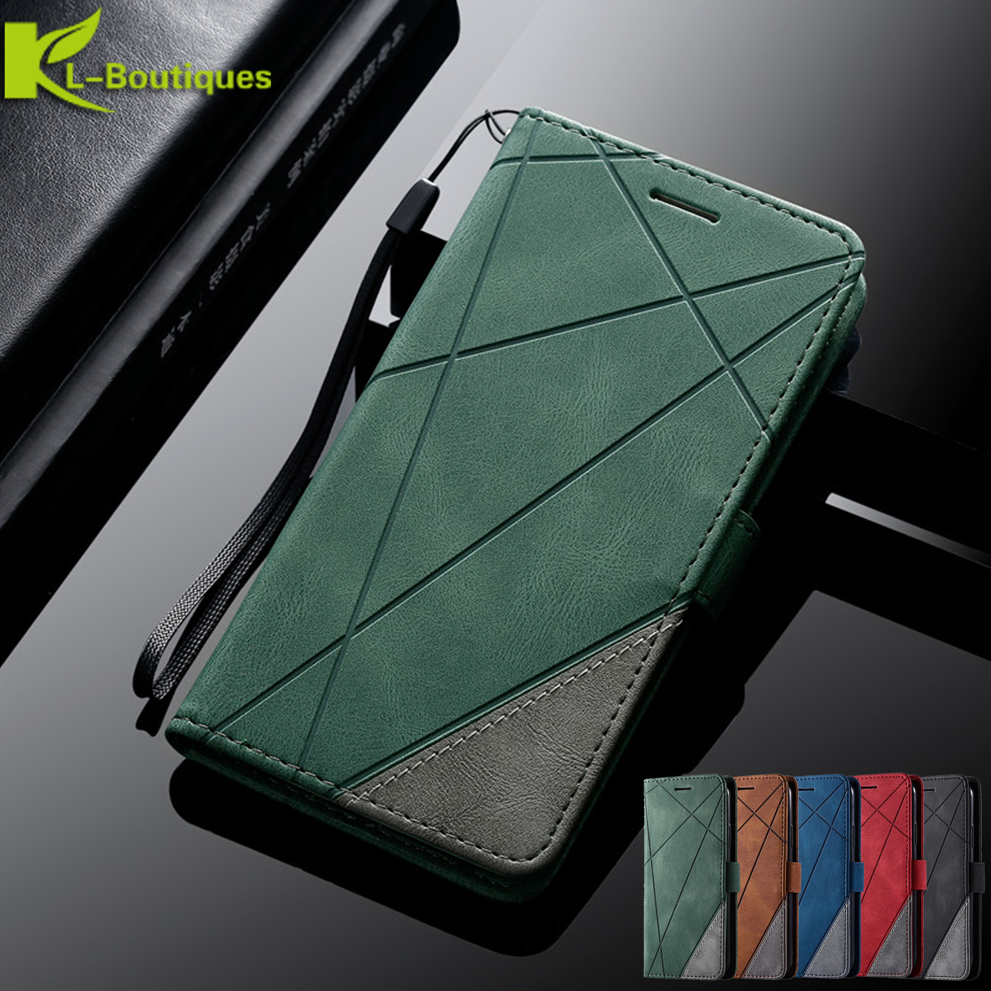 Luxury Case For Samsung Galaxy A 51 71 50 <font><b>70</b></font> 10 20 e 30 S 40 S7 Edge S8 S9 S10 S20 Ultra Plus A8 J6 <font><b>2018</b></font> A520 Leather Flip Case image