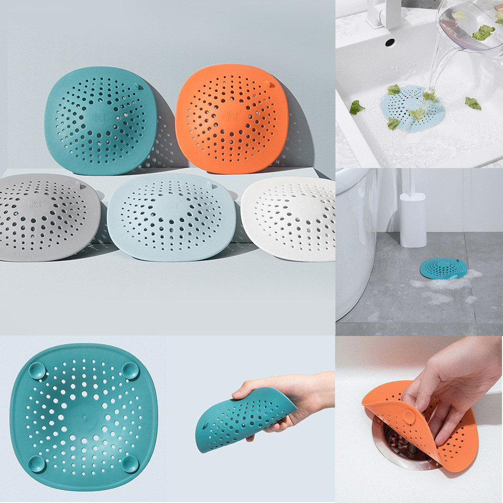 Floor Drain Hair Stopper Bath Catcher Sink Strainer Sewer Filter Shower CoverPVC